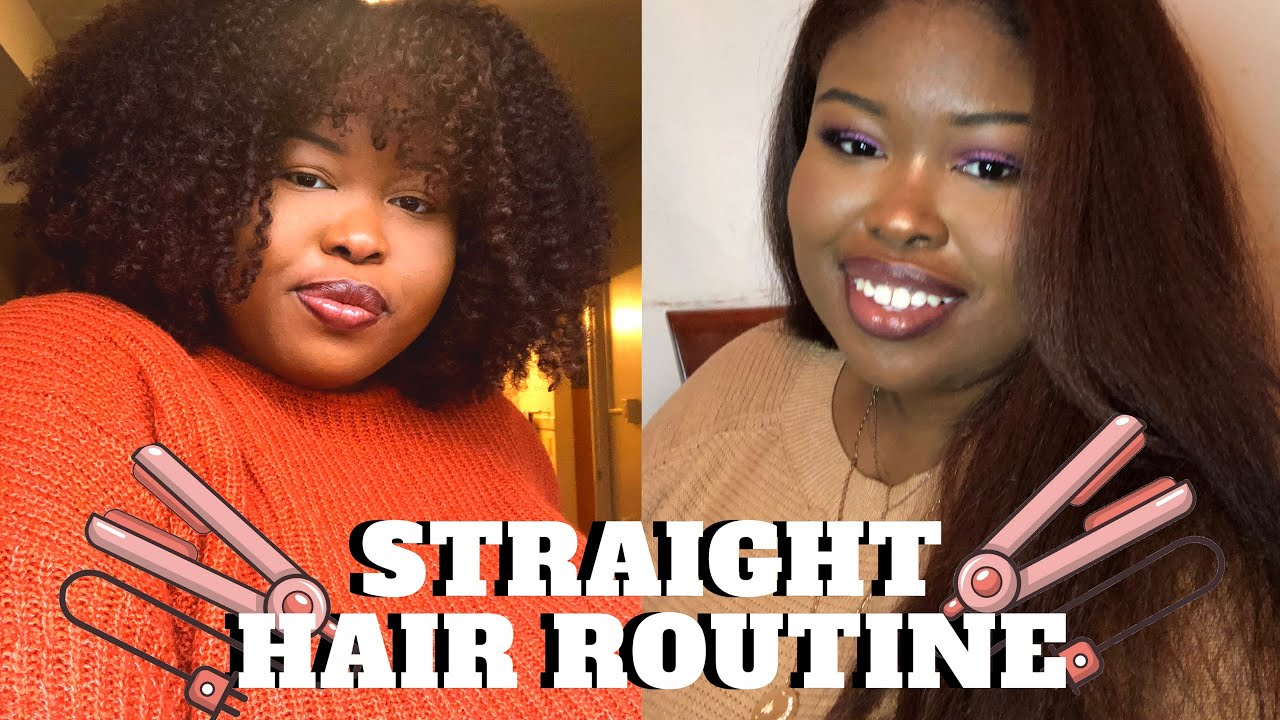 how to get thick curly hair straight