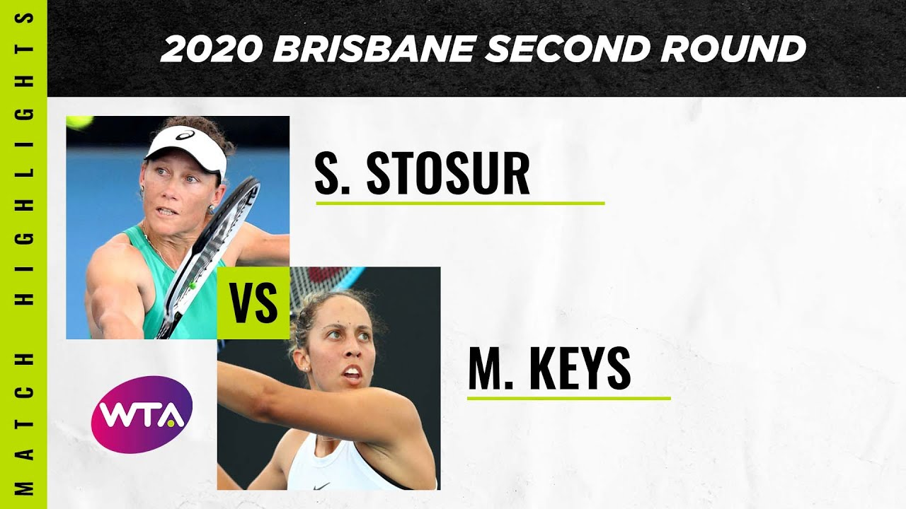 Sam Stosur vs. Madison Keys | 2020 Brisbane International Second Round | WTA Highlights