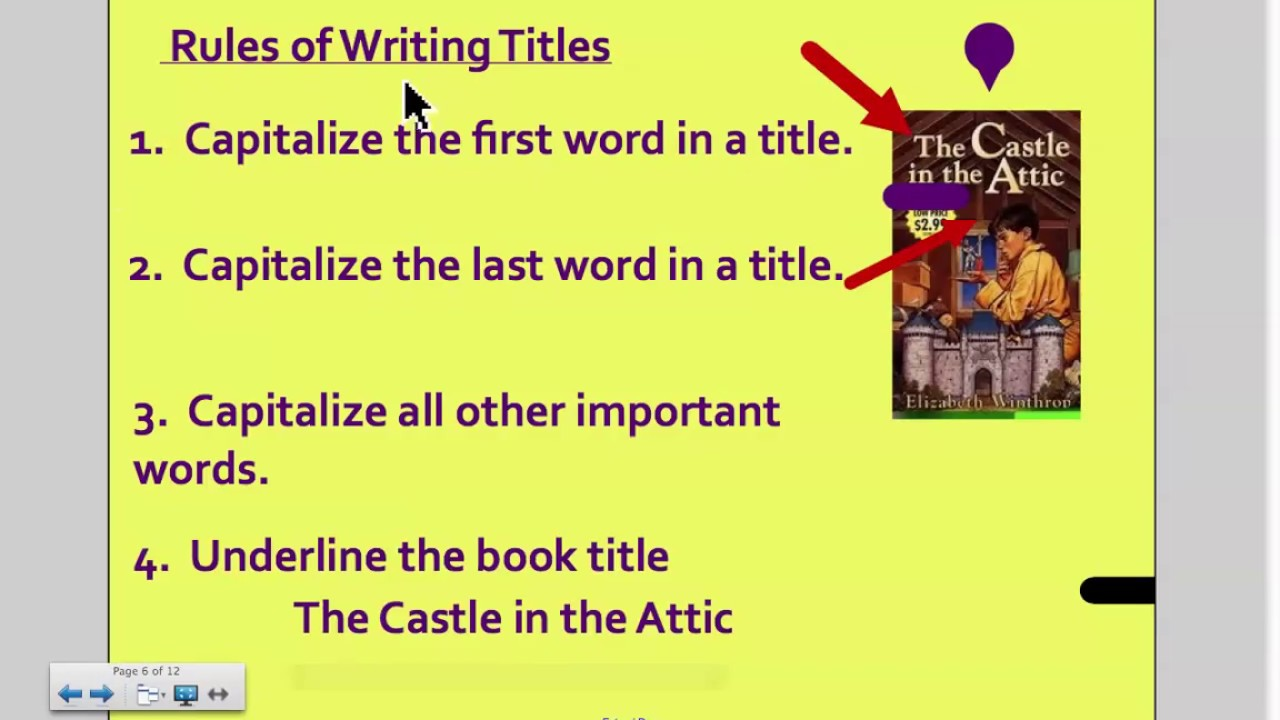 Book Titles Written Correctly- How to Write Book Titles
