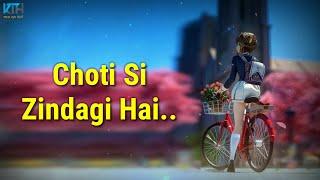 Choti Si Zindagi Hai Very Sad True Line Heart Touching Whatsapp Status Video - Kash Tum Hoti