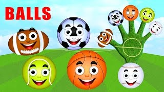 Balls Finger Family Nursery Rhymes for Children