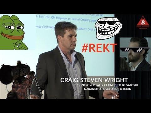 Dr. Craig Wright - Rekt - Admits He Is Not Satoshi Nakamoto