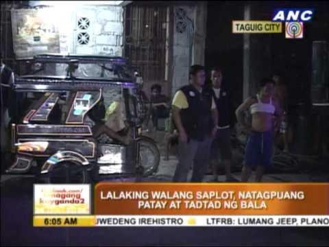 Man shot dead in Taguig's Maharlika Village