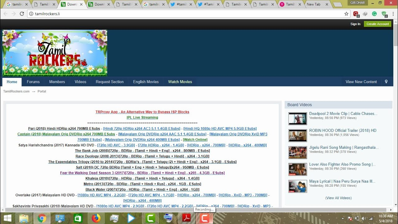 TAMILROCKERS new DOMAIN adress EASILY acess by these methods october2018