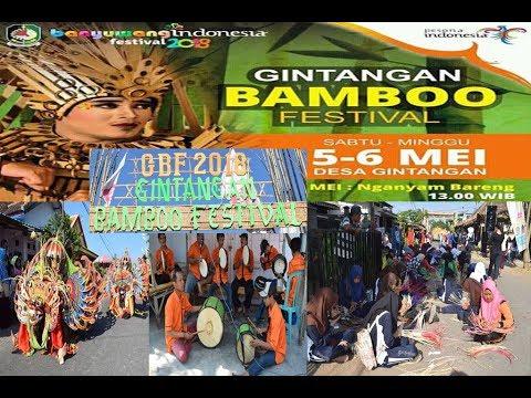 festival-bambu-gintangan-2018-musik,kesenian-barong-&-menganyam-bersama-di-sepanjang-jalan-desa