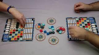 Gameplay: Azul (Plan B Games) Berna Vs. Smuker / Essen 2017