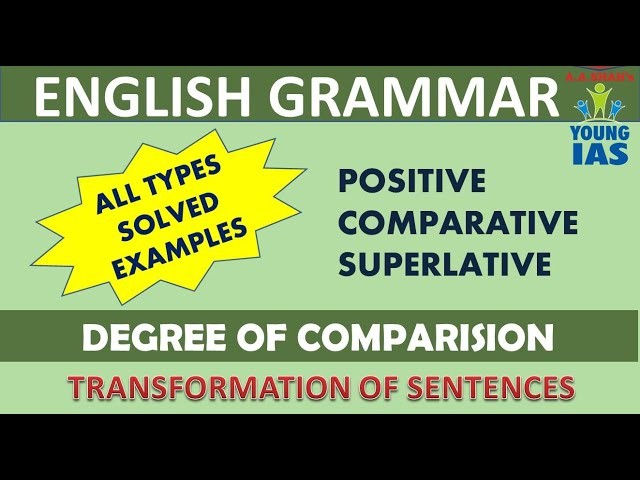 Class X English Grammar | Positive Comparative and Superlative Degree Sentences Transformation