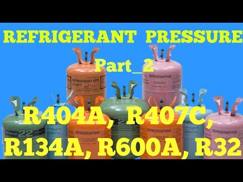 GAS CHARGING PRESSURE R404A, R407C, R134A, R600A, R32 - YouTube