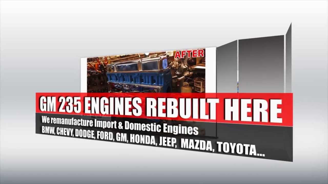 Chevy GM 235 Remanufactured Engine rebuilding