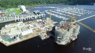 Vejle Lystbådehavn - video fra drone