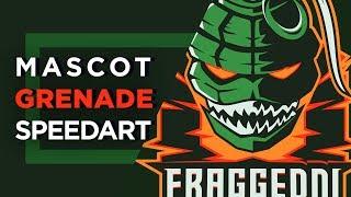 Grenade | Mascot Logo SpeedArt | eSport | Illustrator CC
