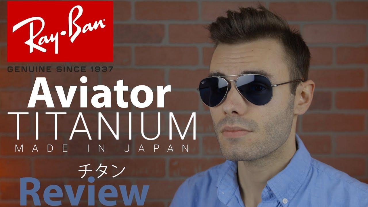 ray ban aviator titanium review