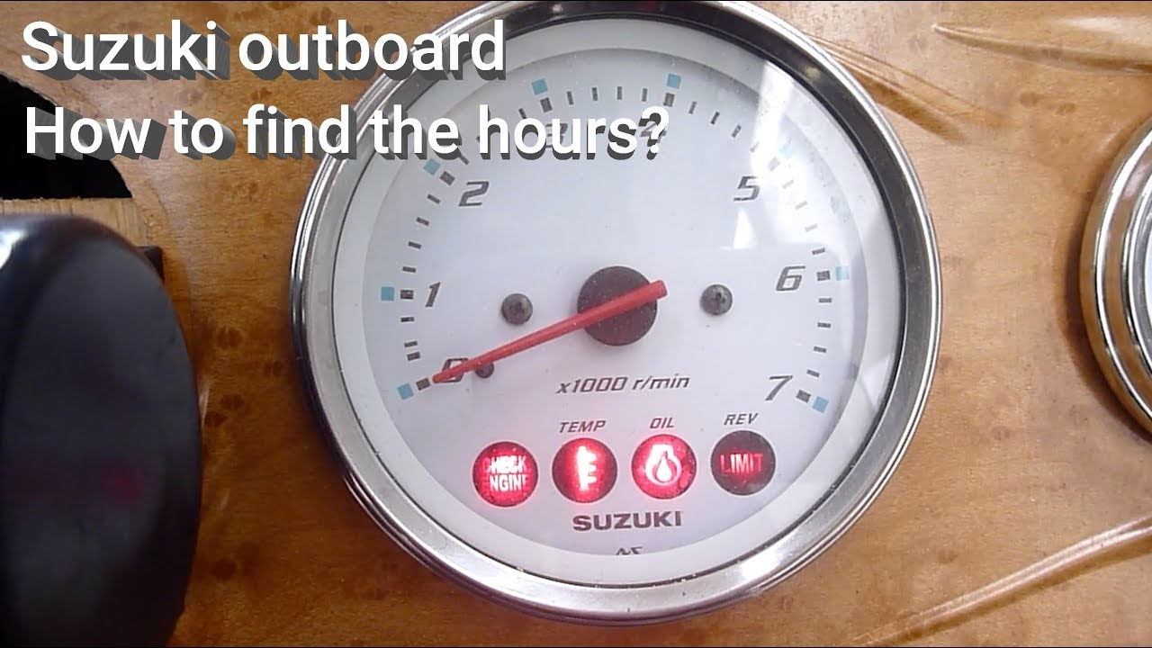 Suzuki outboard - How to find the hours?