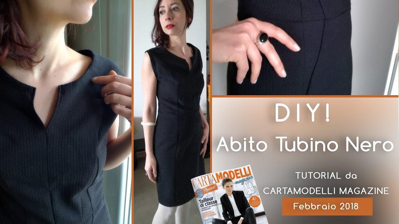 47a31e716fa0 DIY! Abito tubino nero - Tutorial da Cartamodelli Magazine febbraio ...