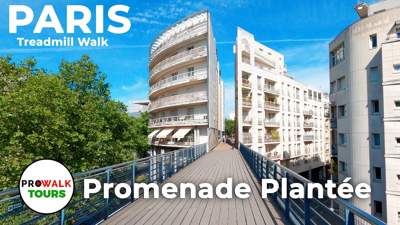 Paris HighLine - La Promenade Plantée - Coulée Verte - Treadmill Walk