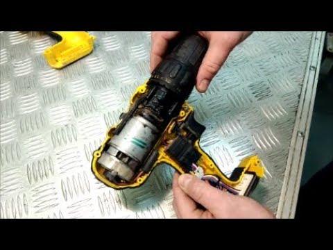 Смазка редуктора шуруповерта  DeWALT DCD734 14.4V Cordless drill-driver gear greasing