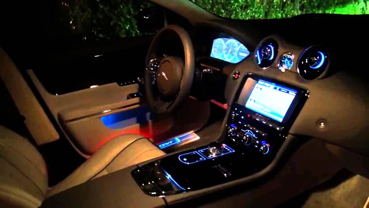 2015 jaguar xjl portfolio awd interior lighting system youtube for Range rover sport interior lighting