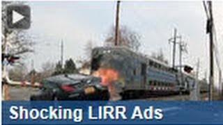 PSA Shocker Ad Wait For The Gate, LIRR Tragic Car Train Crash Railroad Crossing Ad Awareness