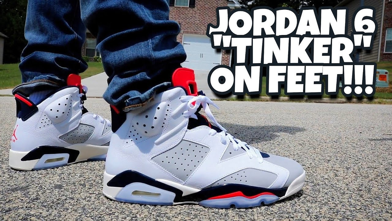 cb56b2e61b85 EARLY REVIEW!!! JORDAN 6 TINKER ON FEET!!! - YouTube