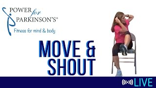 Power for Parkinson's Tuesday Move & Shout - Live Streaming Day 147