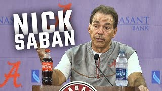 Hear what Nick Saban had to say ahead of Alabama's home opener vs Arkansas State