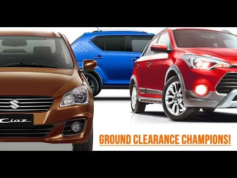 9 hatchback sedans with high ground clearance in india youtube. Black Bedroom Furniture Sets. Home Design Ideas