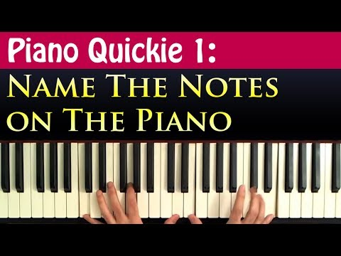 Piano Quickie 1: Naming the Notes on the Piano