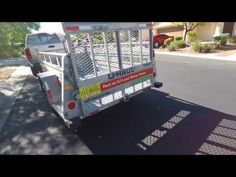 Uhaul 5x9 motorcylce trailer all connected to my truck!