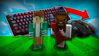 Dos jugadores se pasan Minecraft UNO con TECLADO y el otro con el MOUSE
