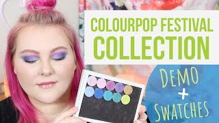 ColourPop Festival Collection Single Shadows: Tutorial + Swatches! | Lauren Mae Beauty