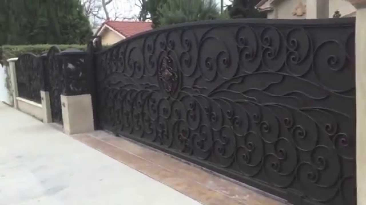 Forged Iron Residential Driveway Gate Sherman Oaks Ca