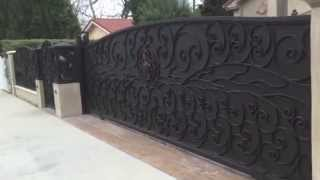Forged Iron Residential Driveway Gate, Burbank, Ca