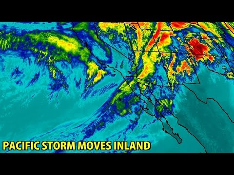 NIGHTLY WEATHER - Monday 1/9/2017 - Pineapple Express moves inland - Pacific storm