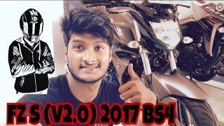Yamaha FZ S( v2.0) FI  2017 BS4 : Firstride impression, Review ,walkaround, : Teja stark