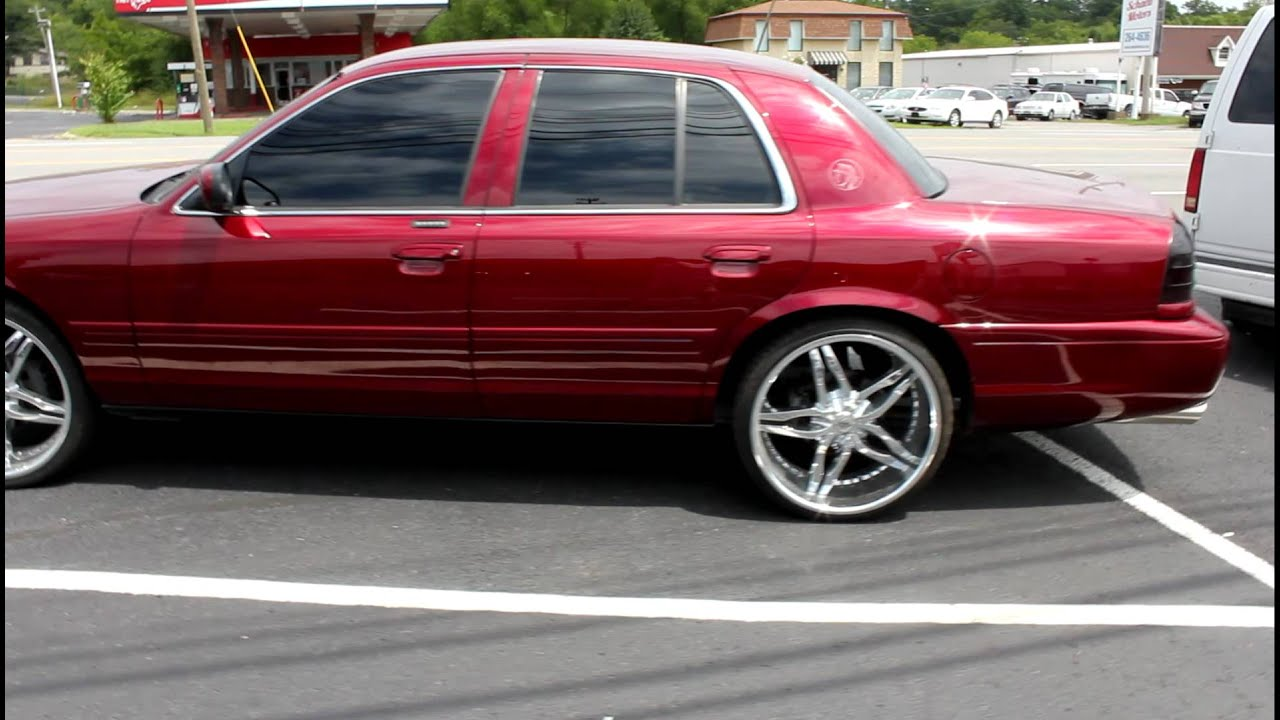 mercury marauder candy on staggered lexani 22s  YouTube