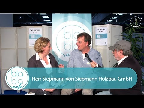Herr Siepmann von Siepmann Holzbau GmbH im Live-Interview auf der Fair Friends 2017