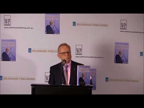 Tony Shepherd AO speaks at the official book launch