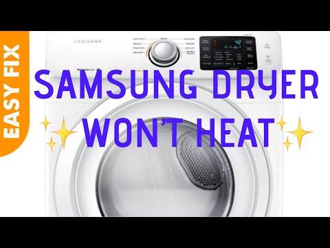 Samsung Dryer Doesn't Heat--EASY FIX