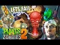 Lets FAIL @ Plants vs. Zombies 2: ZOMBOSS Ancient Egypt (iOS Face Cam Gameplay)
