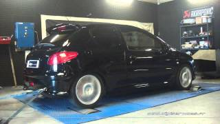 Peugeot 206 hdi 90cv Reprogrammation Moteur @ 135cv Digiservices Paris 77 Dyno
