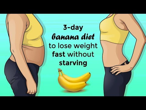 3 Day Effective Banana Diet To Lose Weight Fast Without Starving