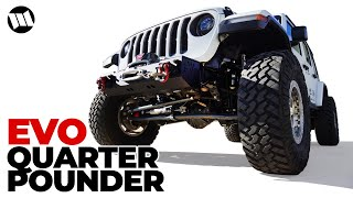 Jeep JL Wrangler Front Bumper Installation EVO Quarter Pounder Stubby with WARN ZEON 10s Winch