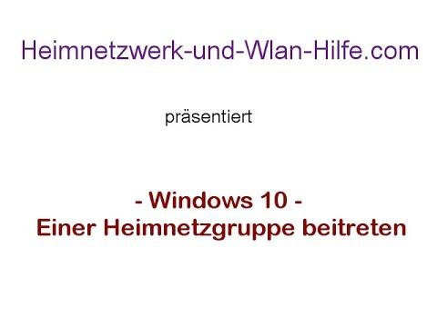 Windows 10 Heimnetzgruppe Passwort