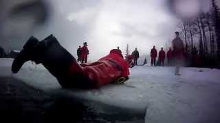 Ice Rescue training with the Junior Canadian Rangers