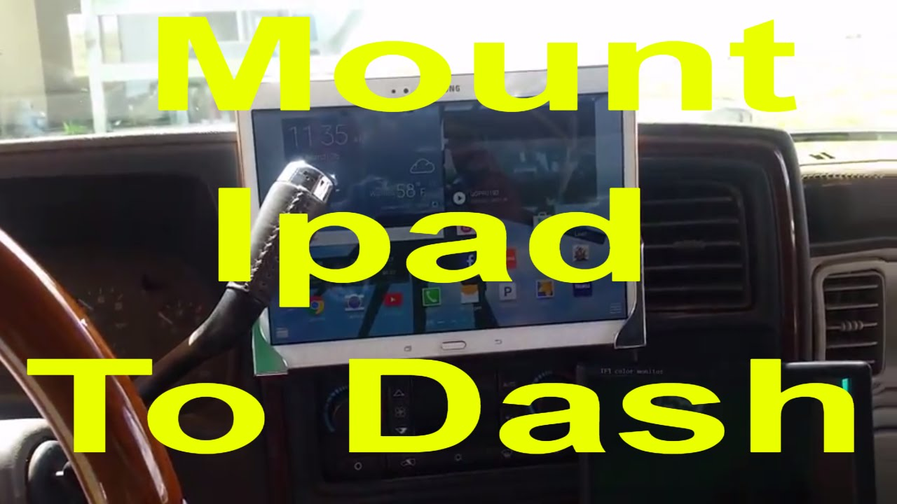 How to install and mount ipad Tablet on your Dashboard in ...