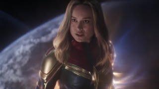 Avengers Endgame - All Captain Marvel Scenes