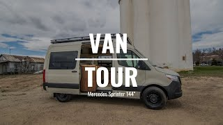 VAN TOUR | Mercedes Sprinter 144 wheel base | Custom Van Build | Rossmönster Vans