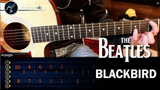 Como tocar Blackbird en Guitarra Acustica THE BEATLES Tutorial COMPLETO Christianvib