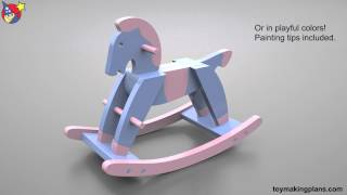 Wood Toy Plans Paul Revere Rocking Horse
