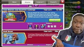 CLASH WORLD JUNE QUALIFIER CHALLENGE | HOW TO TAKE 3 STAR ON EVE KARLITO BASE CLASH OF CLANS